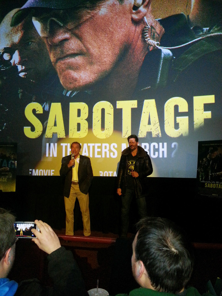 Chicago Sabotage Advance Screening
