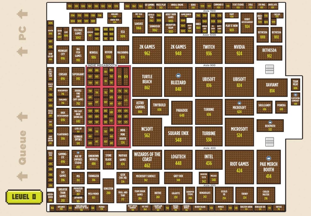 PAX East 2014 Floor Plan