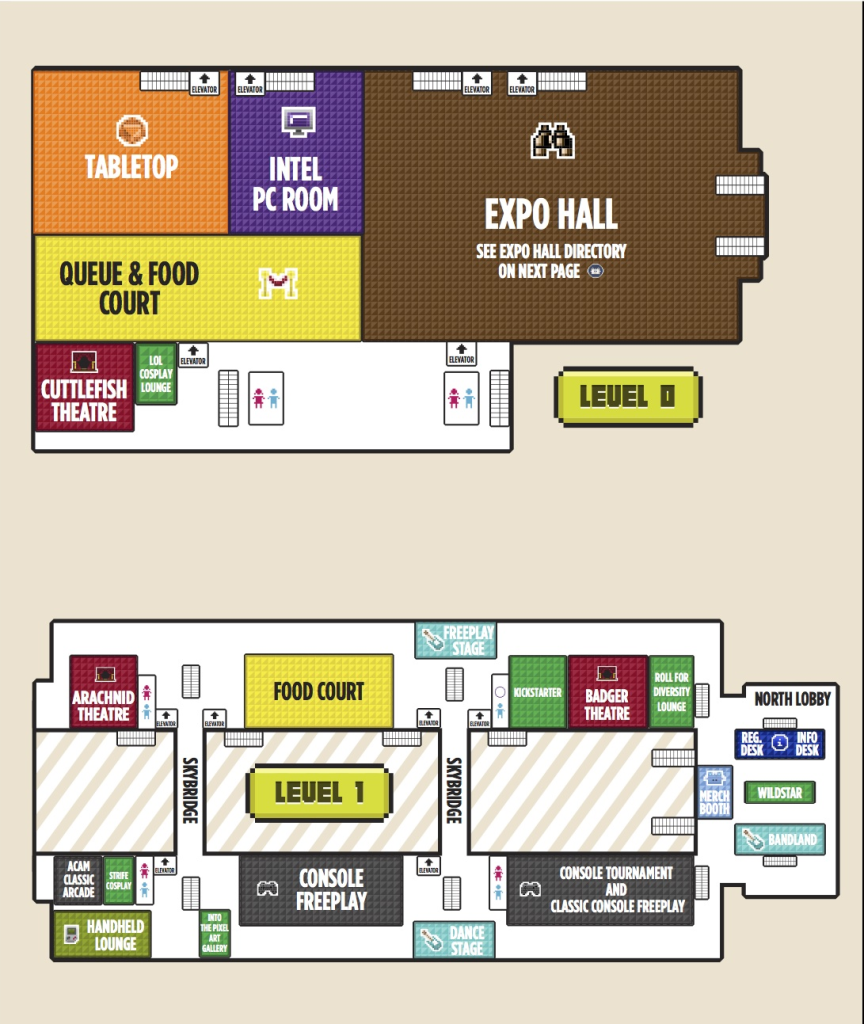 PAX East 2014 Level 0/1 Map