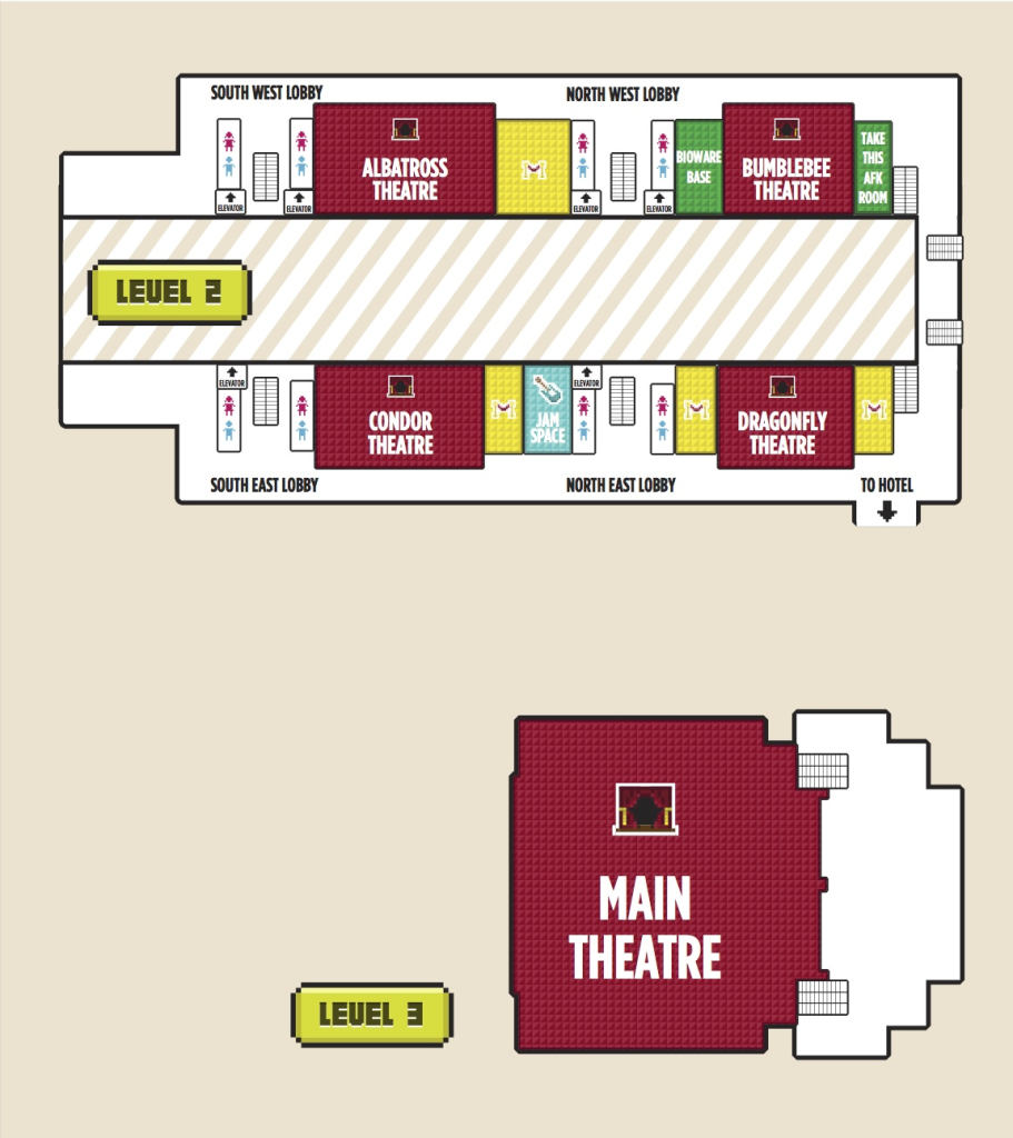 PAX East 2014 Level 2/3 Map